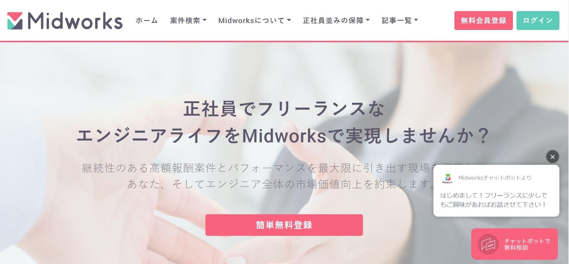 midworksのトップページ